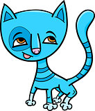 blue kitten cartoon illustration