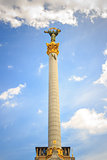 statue of independence, Ukraine with clouds