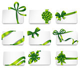 Beautiful cards with green gift bows.