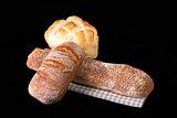 Fresh Bread On Table Cloth