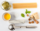 Ingredients For Spaghetti With Pesto