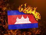 Flag burning - Cambodia