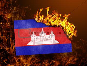 Flag burning - Cambodia
