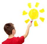 Boy and sun