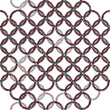 Patterned lace mesh