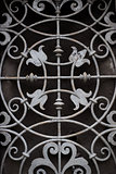 Traditional old vintage iron door