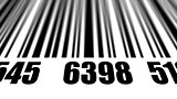 Closeup of scanning barcode.