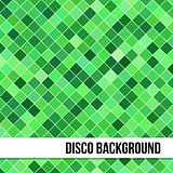 Abstract Background of Green Rombus