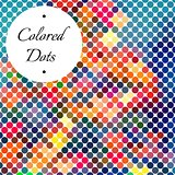 Dotted Colorful Abstract Background