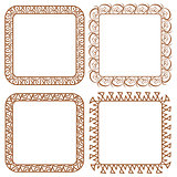 Set openwork vector frame for design