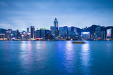 Night scene of Hong Kong Island