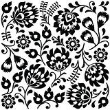 Polish folk art black pattern - Wzory Lowickie, Wycinanki