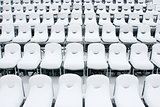 White stadium chairs