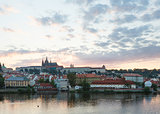 Prague City evening view (Czech Republic).