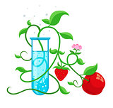 GMO genetically modified foods growing in test-tube