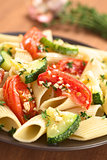 Pasta with Baked Zuccini and Tomato