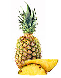 big pineapple and slices