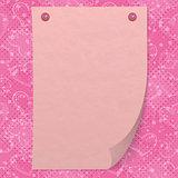 Valentine background with paper