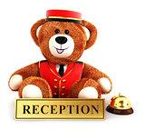 3d teddy bear bellboy