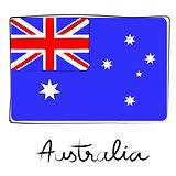 Australia doodle flag