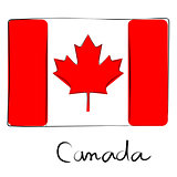 Canada flag doodle