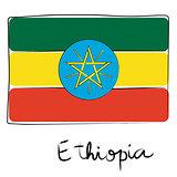 Ethiopia flag doodle