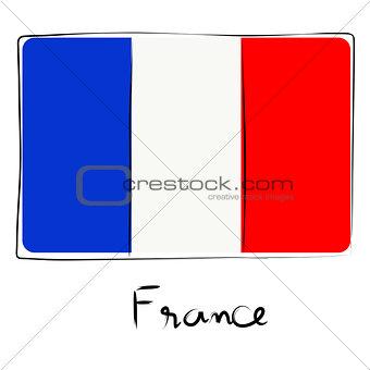 France flag doodle