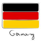 Germany flag doodle