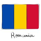 Romania flag doodle