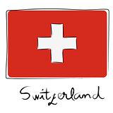 Switzerland flag doodle