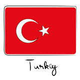 Turkey flag doodle