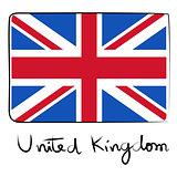 United Kindom flag doodle