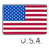 USA flag doodle