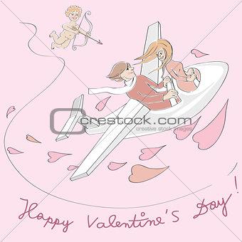 Valentine plane flying