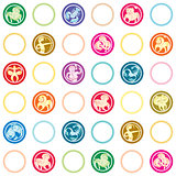 zodiac signs retro pattern