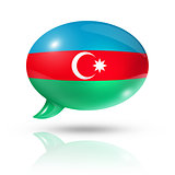 Azerbaijani flag speech bubble