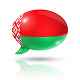 Belarus flag speech bubble