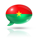 Burkina Faso flag speech bubble