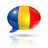 Chadian flag speech bubble