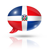Dominican Republic flag speech bubble