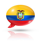 Ecuadorian flag speech bubble
