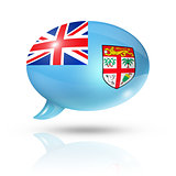 Fijian flag speech bubble
