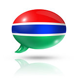 Gambian flag speech bubble