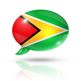 Guyanese flag speech bubble