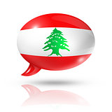 Lebanese flag speech bubble