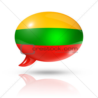 Lithuanian flag speech bubble