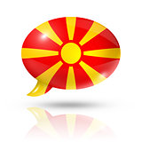 Macedonian flag speech bubble