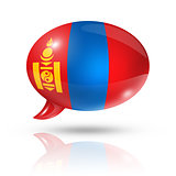 Mongolia flag speech bubble