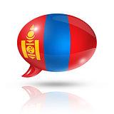 Mongolia flag speech bubble