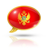 Montenegro flag speech bubble